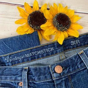 J.CREW Vintage Matchstick Dark Wash Jeans Size 30R